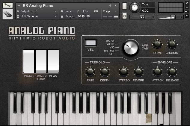 Analog Piano front panel