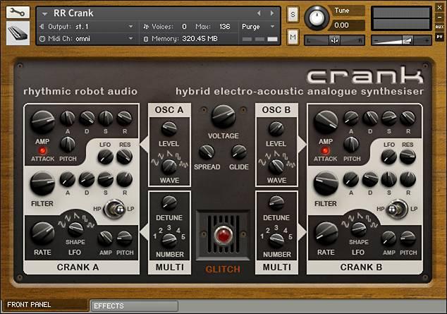 Crank panel