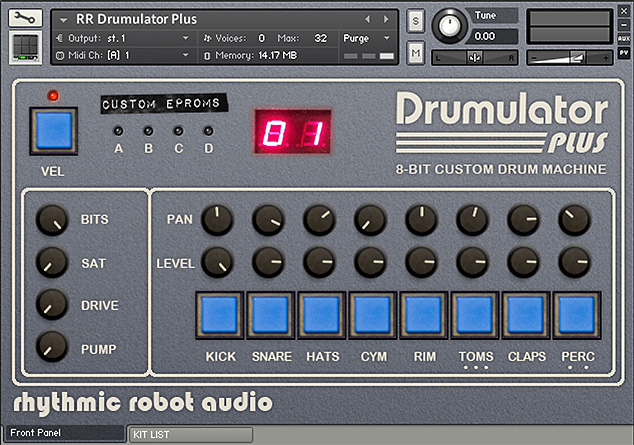 Drumulator Plus Kontakt drum machine