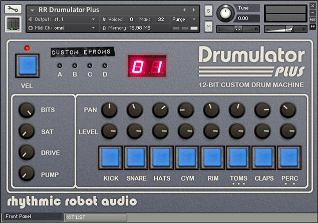 Drumulator panel