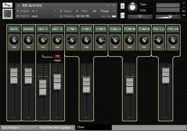 Grit Kit mixer panel