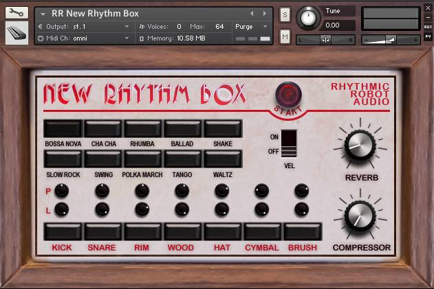 New Rhythm Box panel
