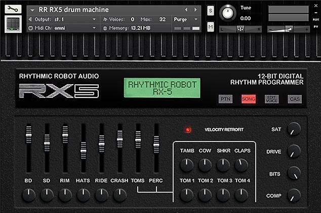 rx5 rhythmic robot audio. Black Bedroom Furniture Sets. Home Design Ideas