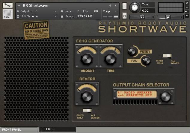 Shortwave rear panel