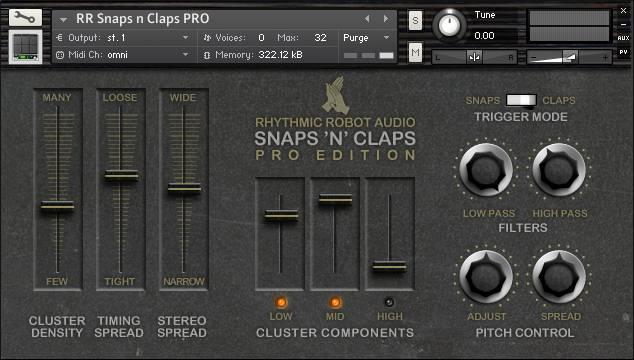 Snaps N Claps PRO panel