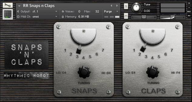Snaps n Claps front panel