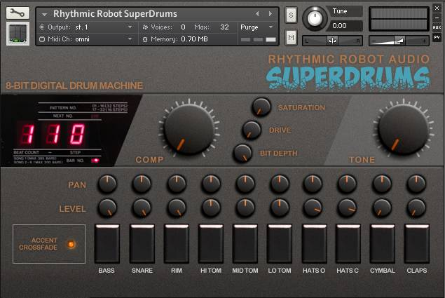 SuperDrums panel