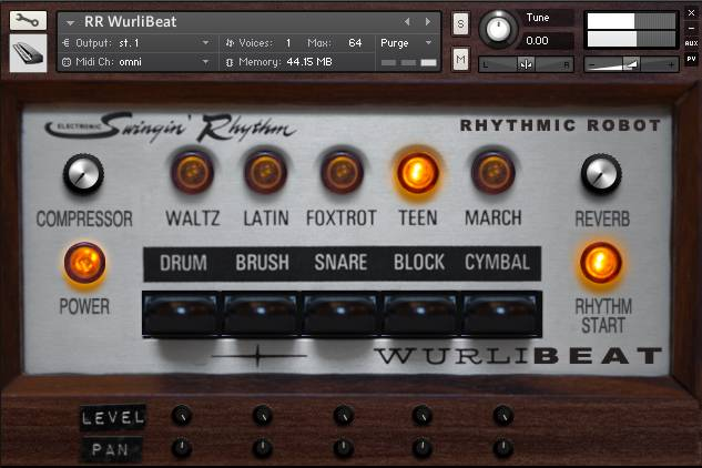 WurliBeat panel