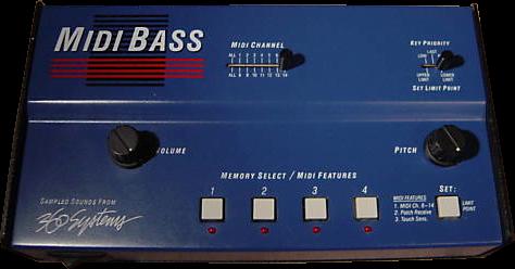 MIDI Bass hardware Kontakt instrument