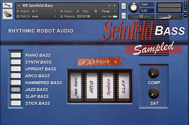 Seinfeld Bass Kontakt instrument