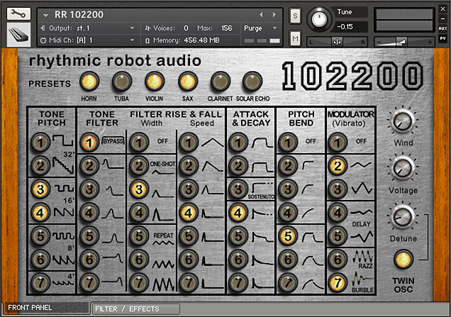 102200 Hammond synthesiser Kontakt instrument