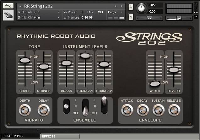 kontakt strings attack