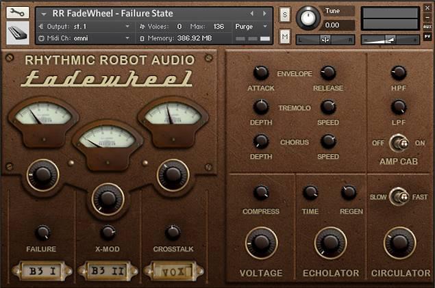 FadeWheel Kontakt instrument panel