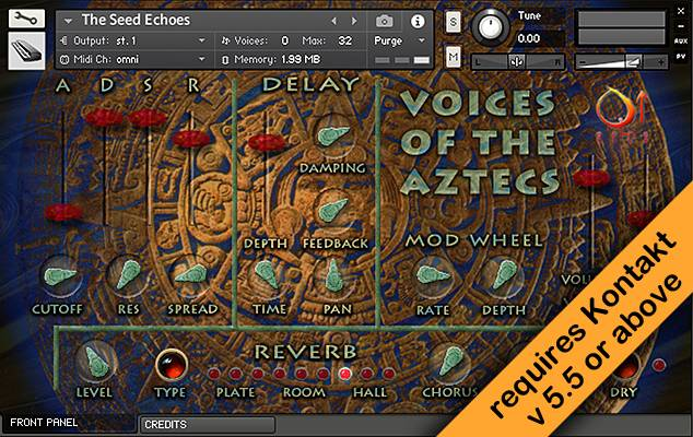 Voices of the Aztecs Kontakt Instrument front