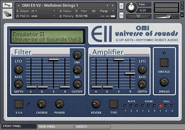 Emulator II vol2 Kontakt instrument front