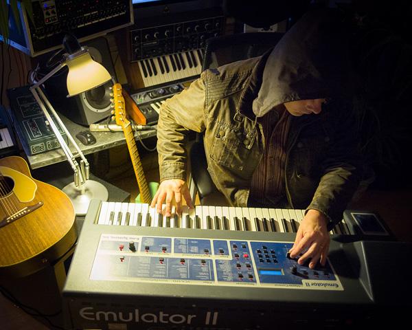 The Professor at work on the Emulator II (smaller)