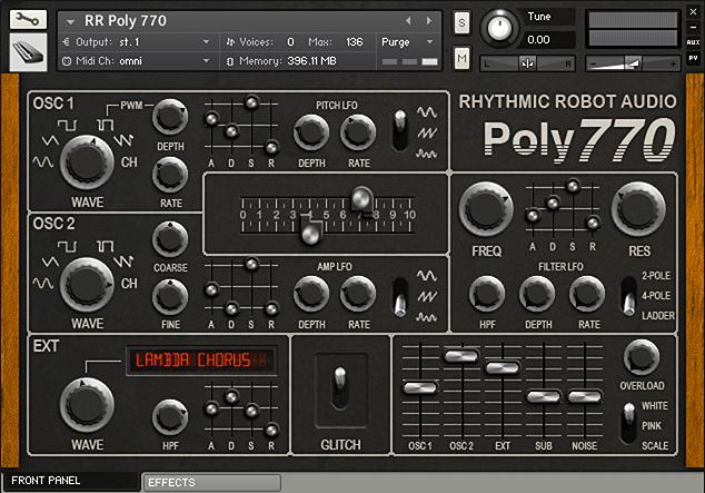Poly 770 Kontakt Instrument front panel