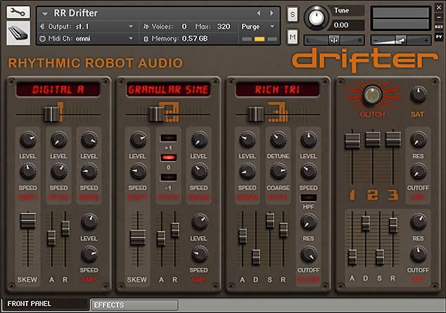Drifter Kontakt instrument front panel