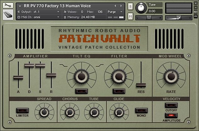 PatchVault 770 kontakt instrument front panel