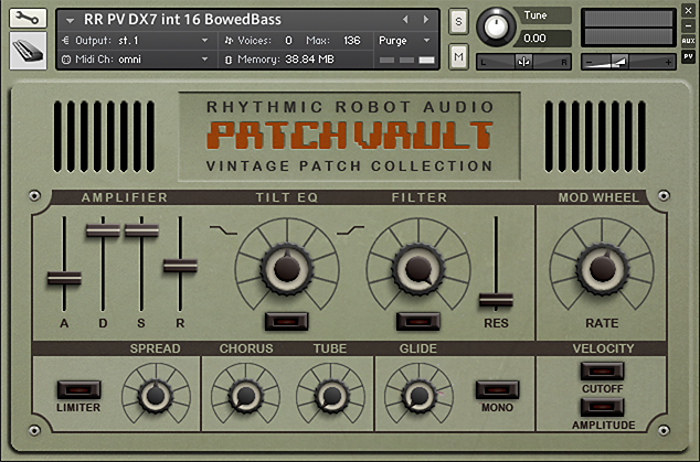 PatchVault DX7 II Factory Set – Rhythmic Robot Audio