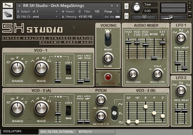 SH Studio Kontakt instrument Front
