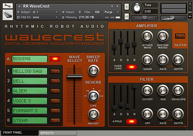 WaveCrest Kontakt instrument