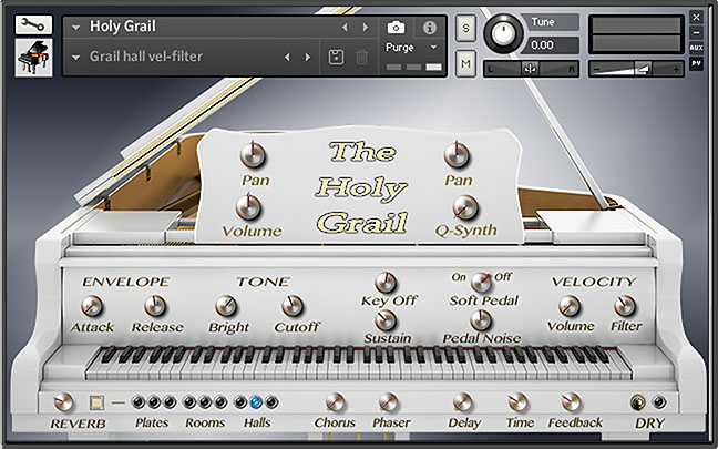 The Holy Grail kontakt piano front