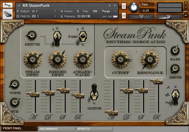 SteamPunk Kontakt instrument front