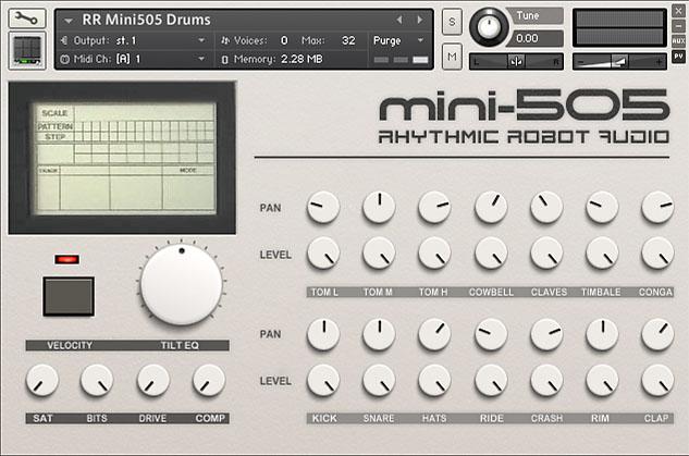 Mini 505 Kontakt instrument front panel