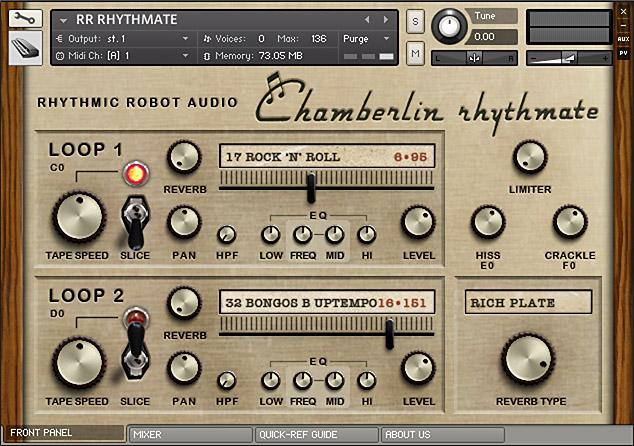 Rhythmate Kontakt instrument front