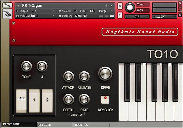 Weltmeister T010 transistor organ Kontakt instrument front